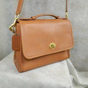 COACH VTG Court Bag 9870  British Tan EXC